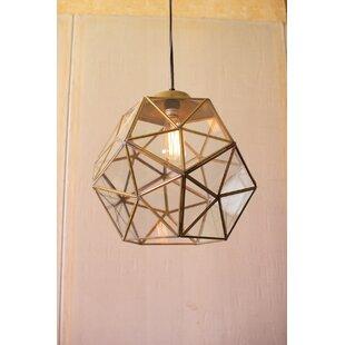 Brayden Studio Edelman Glass and Metal Faceted Foyer Pendant