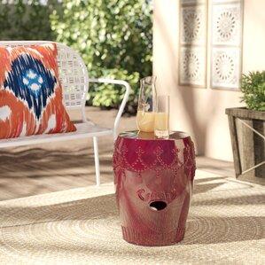 Alonsa Drum Ceramic Garden Stool