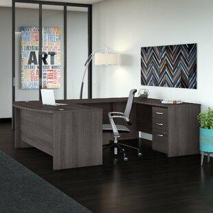 Bush Business Furniture Studio C 2 Piece U-Shaped Desk Office Suite