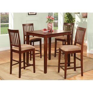 Givens 5 Piece Counter Height Dining Set by Three Posts