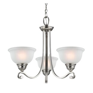 Halvorsen 3-Light Shaded Chandelier by Darby Home Co