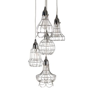 Ager Wire 5 Pendant Lamp by Wrought Studio