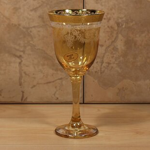 Veneziano Corona 9 oz. Glass Goblet (Set of 6)