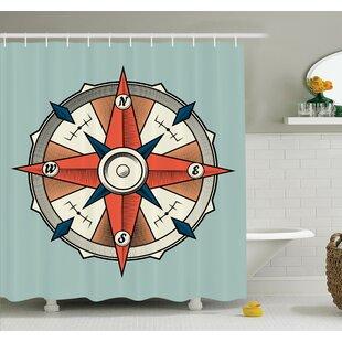 Hoffman Compass Cruise Grunge Shower Curtain Set