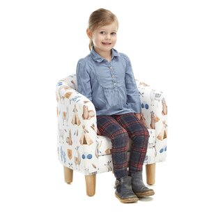 Filkins Animal Camp Llamas Children's Club Chair By Zoomie Kids