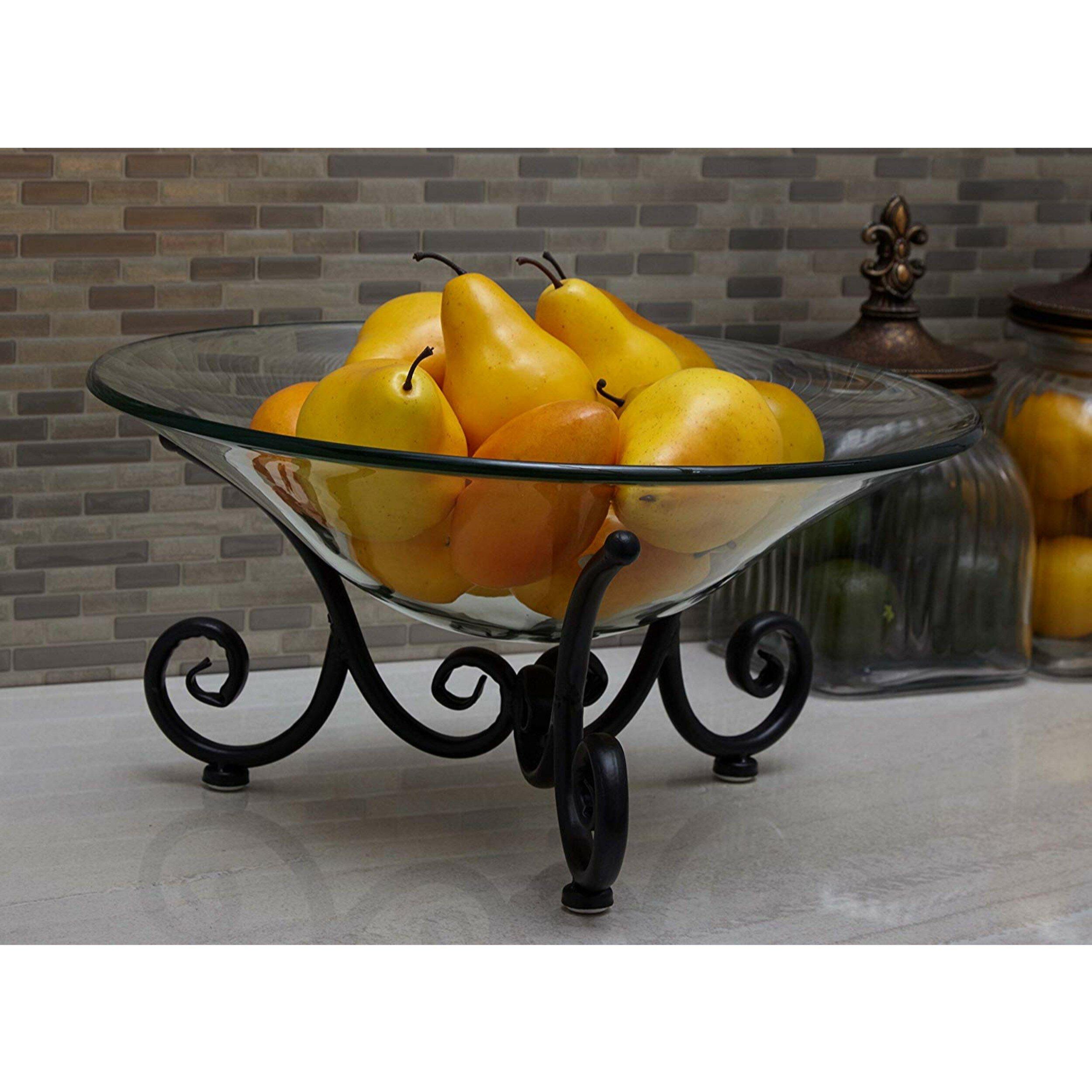 Decorative Bowl Urban Decor Table Centerpiece Minimalist Decor Fruit Bowl Metal Design Modern Bowl Home Office Decoration Black Bowl