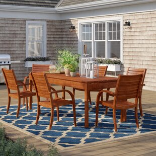 Brighton 7 Piece Wood Dining Set