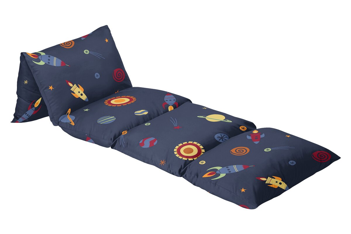 Sweet Jojo Designs Space Galaxy Floor Pillow Lounger Cover & Reviews ...