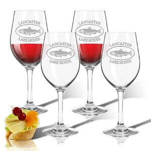 Tritan Lakehouse and Trout 12 oz. All Purpose Wine Glass (Set of 4)
