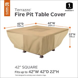 Freeport Park Jelani Square Patio Fire Pit Table Cover