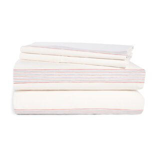 4 Piece Classic 120 Thread Count 100% Cotton Percale Sheet Set