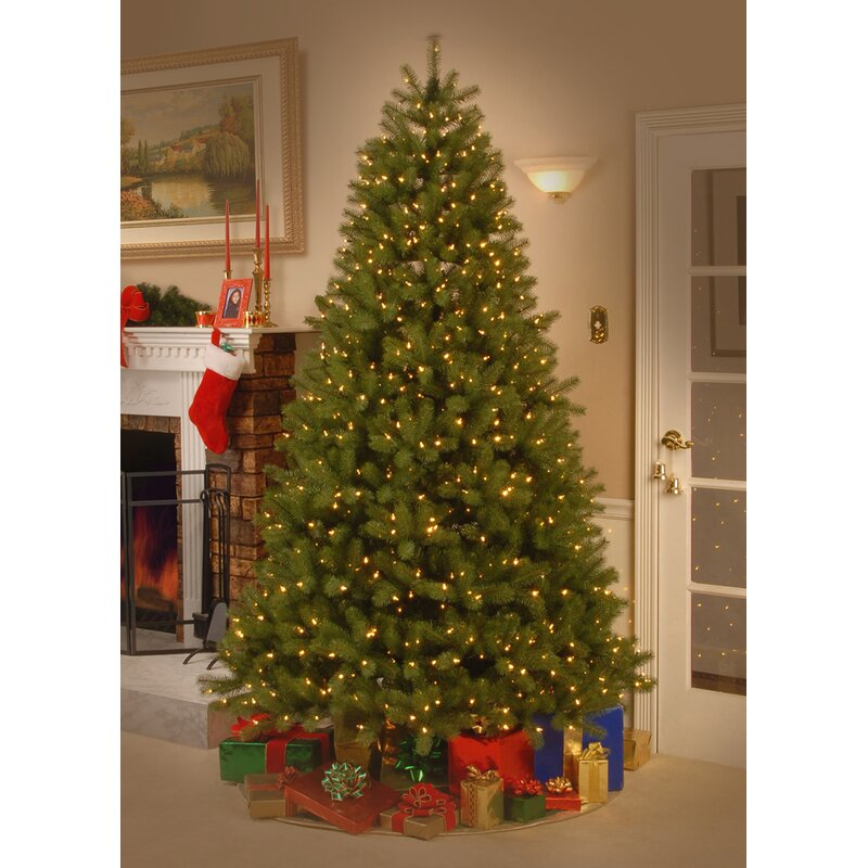 Douglas Fir 7.5' Green Downswept Artificial Christmas Tree with 750  Dual-Color LED Lights - Douglas Fir 7.5' Green Downswept Artificial Christmas Tree With 750