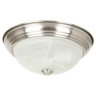 Charlton Home Benedict 2-Light Flush Mount