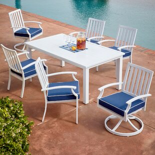 Yandel Bridgeport 7 Piece Dining Set with Cushions by Darby Home Co