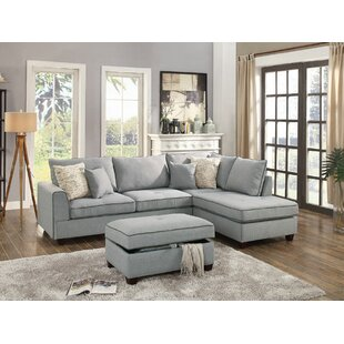 Laurel Foundry Modern Farmhouse Ayita Reversible Sectional with Ottoman