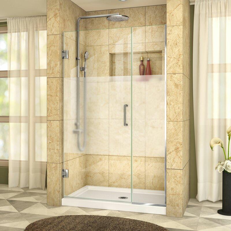 Dreamline Unidoor Plus 38 X 72 Hinged Frameless Shower Door With
