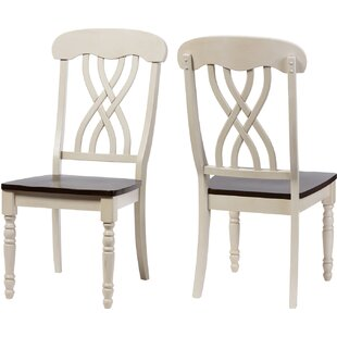 Baxton Studio Solid Wood Dining Chair (Set of 2) Wholesale Interiors