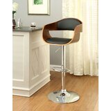 Garvin Swivel Adjustable Height Bar Stool by George Oliver