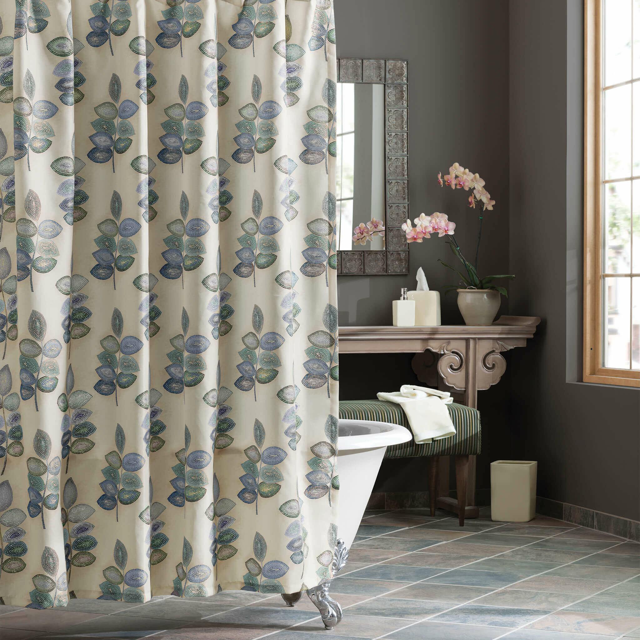 Croscill Mosaic Leaves Spa Shower Curtain Reviews Wayfair