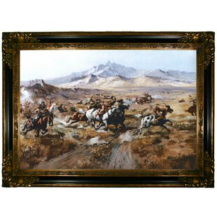 299623a14f2  Stage Coach Attack  by Charles Marion Russell Framed Painting Print