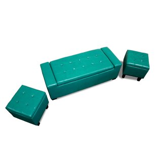 BestMasterFurniture Upholstered Storage Bench (Set of 3)