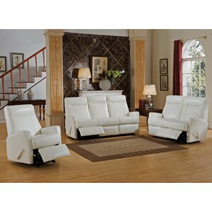 Toledo 3 Piece Leather Living Room Set by Amax