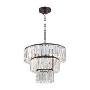 Mercer41 Nyles 4-Light Crystal Chandelier