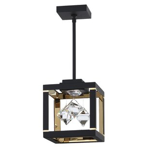 Fyra 1-Light LED Square Pendant by Swarovski