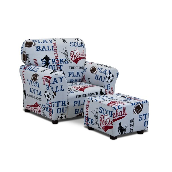 Kidzworld Sports Kids Cotton Chair And Ottoman Wayfair