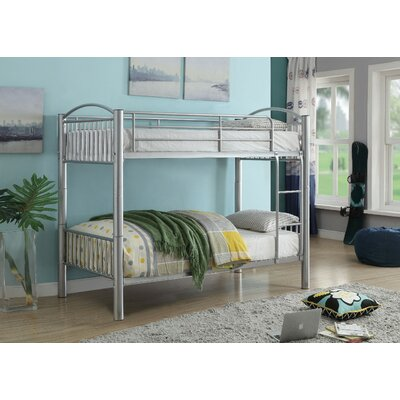 Agnes Metal Bunk Bed Harriet Bee Bed Frame Color: Silver, Size: Twin over Twin
