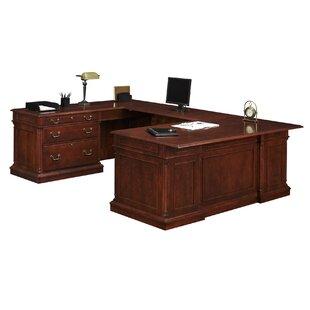 Darby Home Co Prestbury HPL Top U-Shape Executive Desk