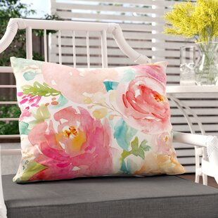 Clifton Popping Peonies Outdoor/Indoor Lumbar Pillow