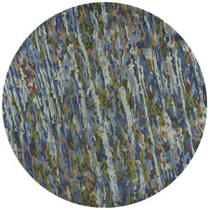 Bernardine Hand-Tufted Wool Sky Blue Area Rug