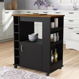 Worcester Kitchen Cart by Charlton Home®