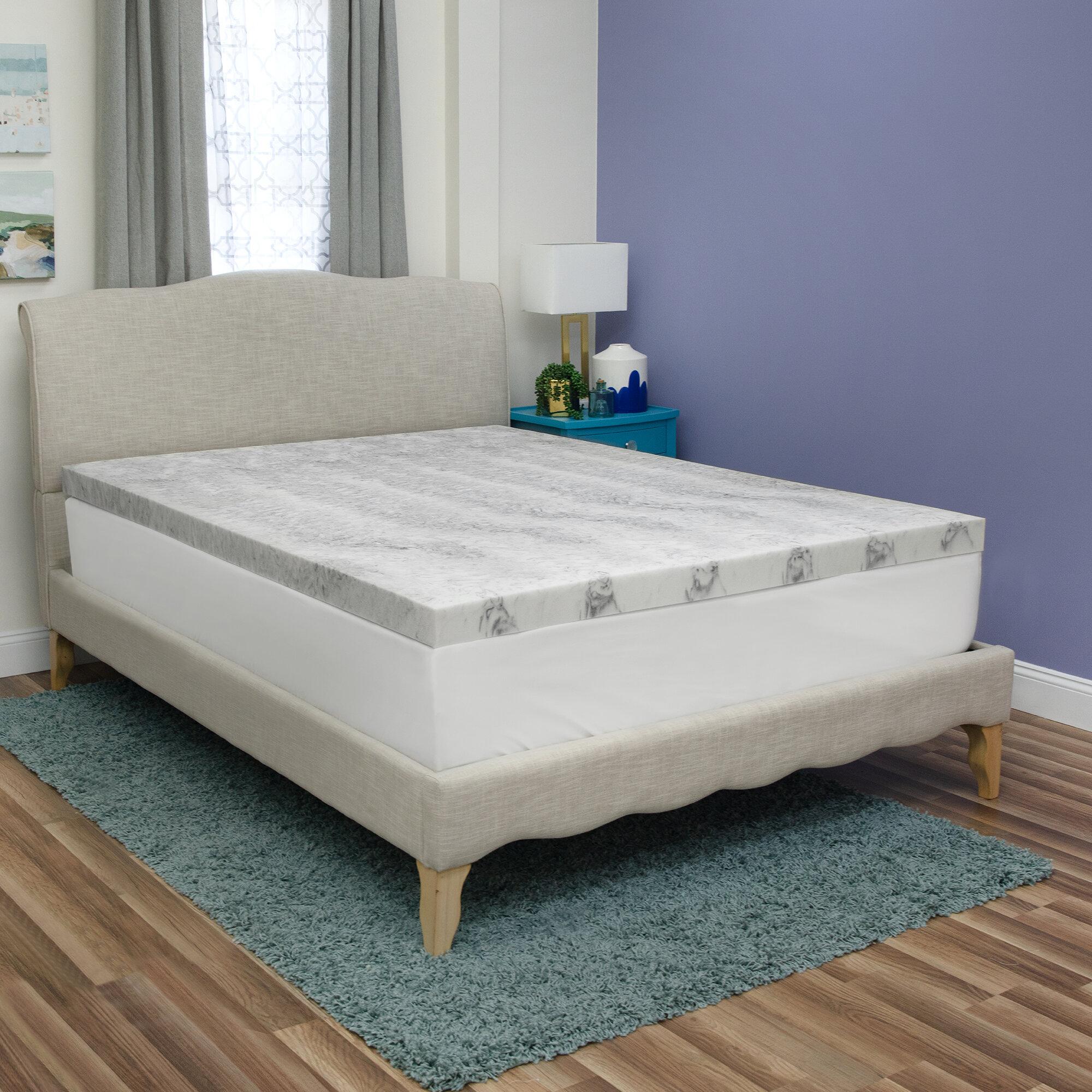Sensorpedic Bamboo 3 Memory Foam Mattress Topper Reviews Wayfair