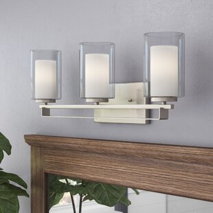 Read Reviews Bensenville 3-Light Drum/Cylinder Vanity Light By Mercury Row