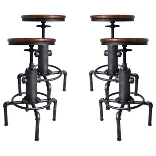 Aquavia Backless Adjustable Height Swivel  Bar Stool - set of 4 (Set of 4) by Williston Forge