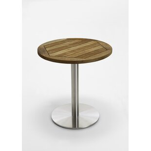 Bistro Folding Stainless Steel And Teak Dining Table By Niehoff Garden
