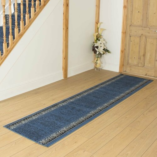 Bankhead Tufted Blue Hallway Runner Rug ClassicLiving Rug Size: Runner 420cm x 70cm