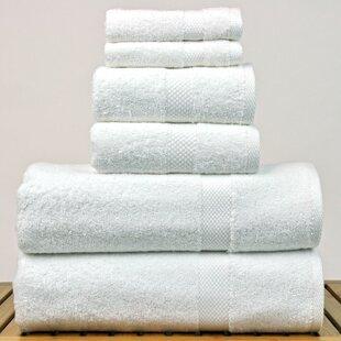 Petal 6 Piece 100% Cotton Towel Set