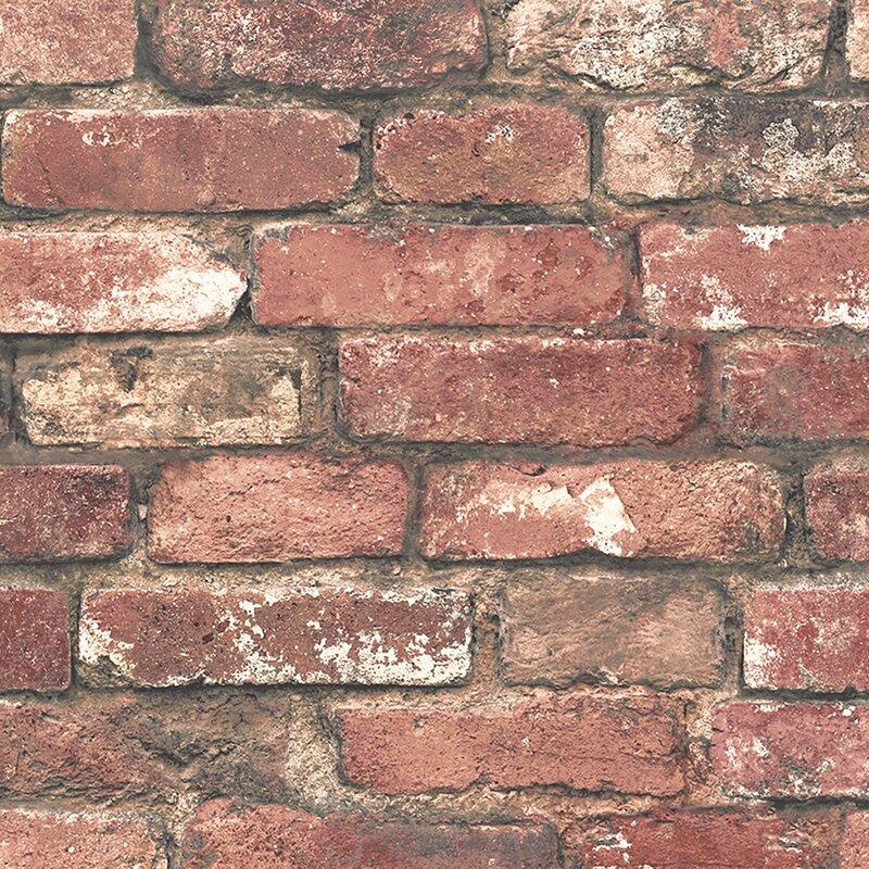 Essentials Loft 33 X 205 Brick Wallpaper Roll