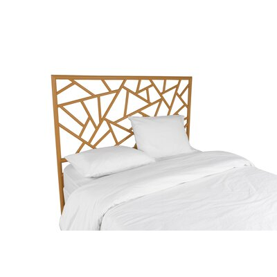 Tiffany Open-Frame Headboard David Francis Furniture Color: Camel Brown, Size: King