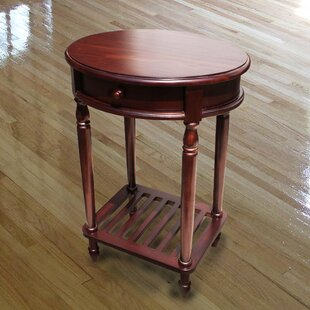 Fordingbridge Living Room Mahogany Wood 1 Drawer Oval End Table by Alcott Hill