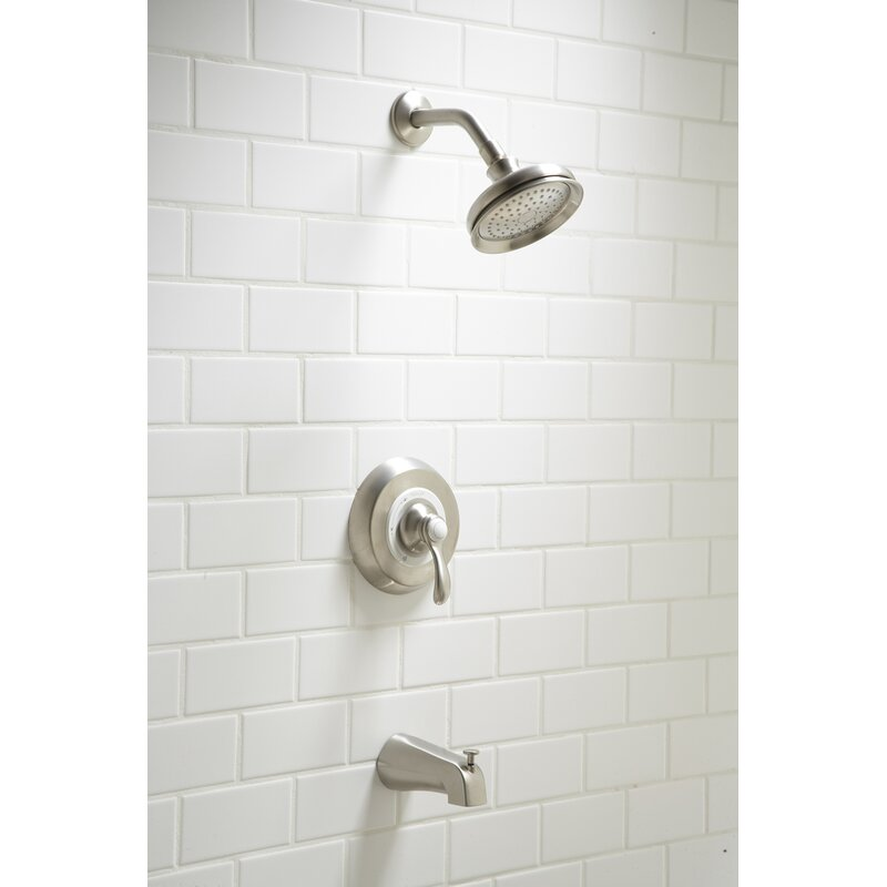 Kohler Fairfax Rite Temp Pressure Balanced Tub And Shower Faucet With Valve And Diverter Wayfair