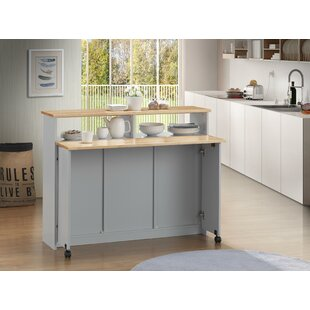 Ruthton Kitchen Cart Canora Grey