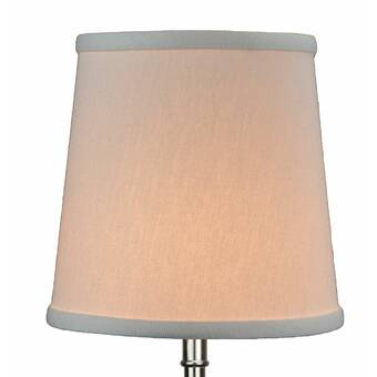 Winston Porter 6 H X 5 W Empire Lamp Shade Flame Clip Attachment In Linen Paprika Wayfair