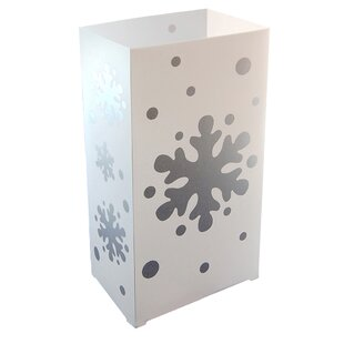 Snowflake Plastic Lantern (Set of 100) by The Holiday Aisle