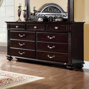 Wesleyan 9 Drawer Dresser with Mirror