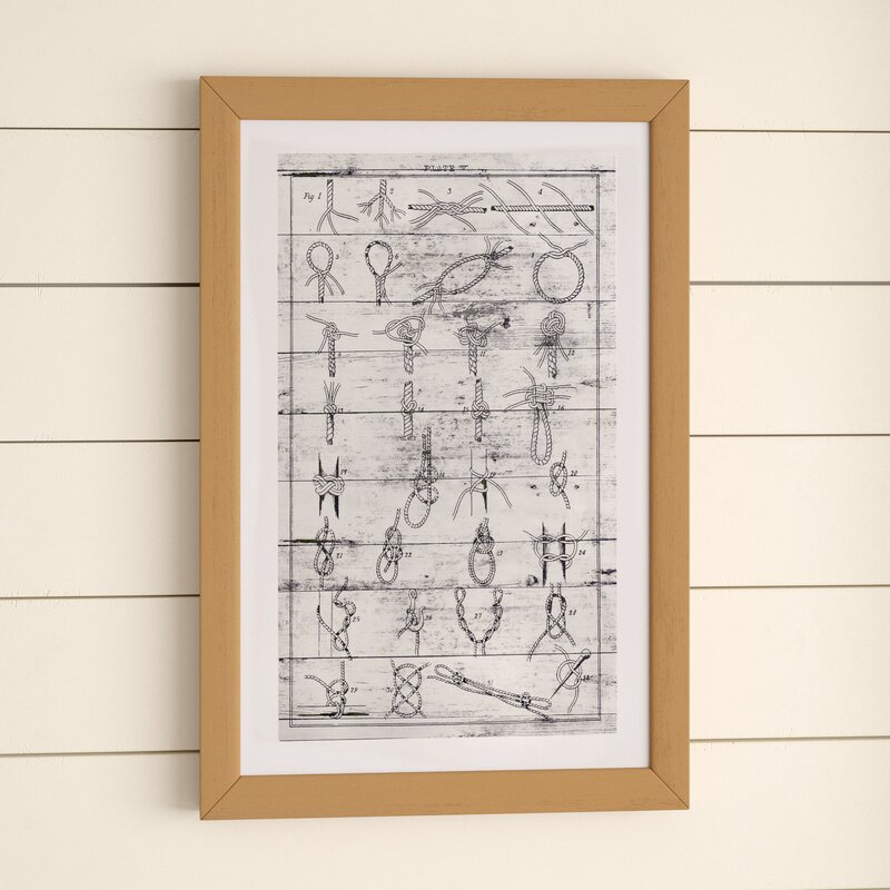'Nautical Knots II' Framed Print