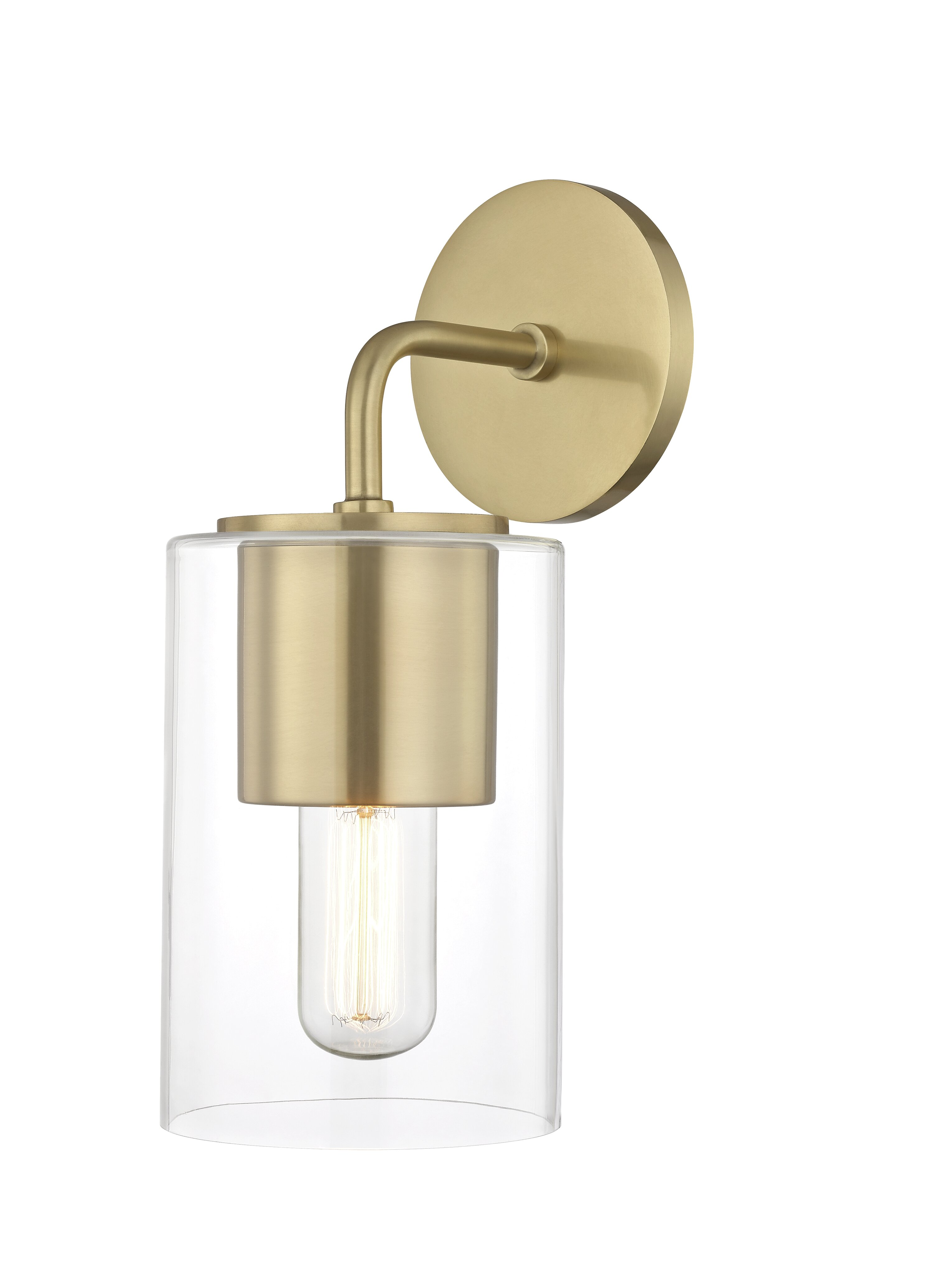 Ahern 1 Light Dimmable Armed Sconce Reviews Joss Main